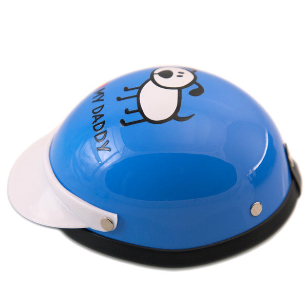 Dog Helmet - I Love My Daddy - Blue - Side View