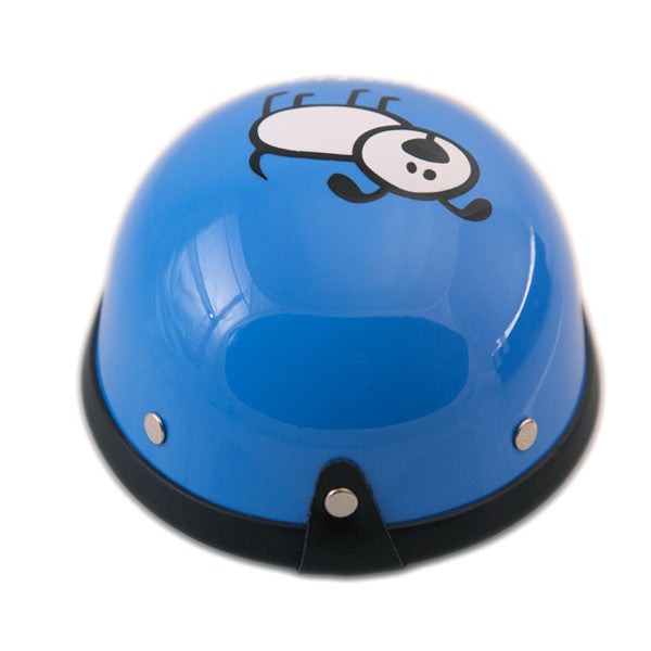 Dog Helmet - I Love My Mommy - Blue - Back