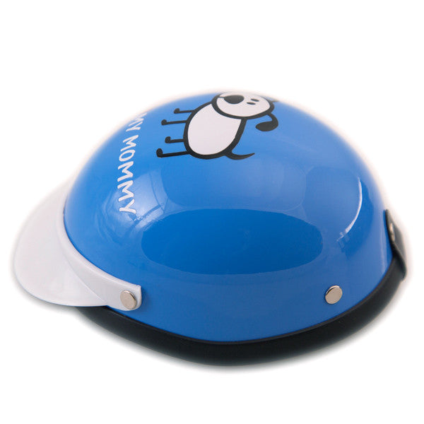 Dog Helmet - I Love My Mommy - Blue - Side View