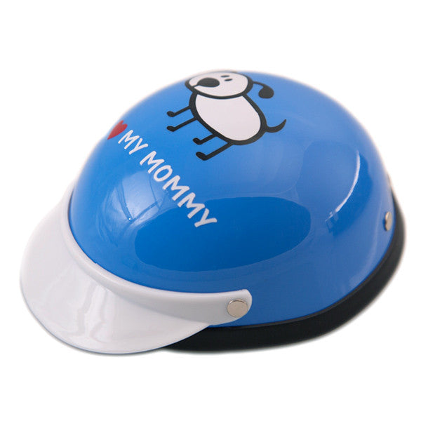 Dog Helmet - I Love My Mommy - Blue - Main