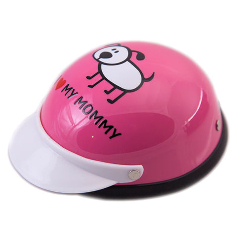 Dog Helmet - I Love My Mommy - Pink - Main