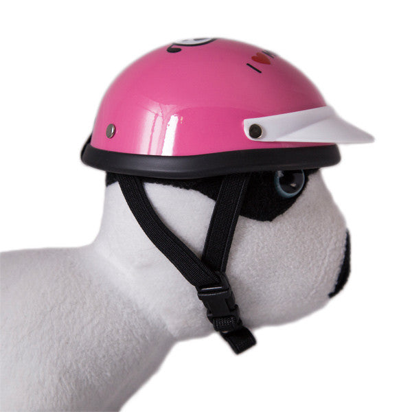 Dog Helmet - I Love My Mommy - Pink - Strap