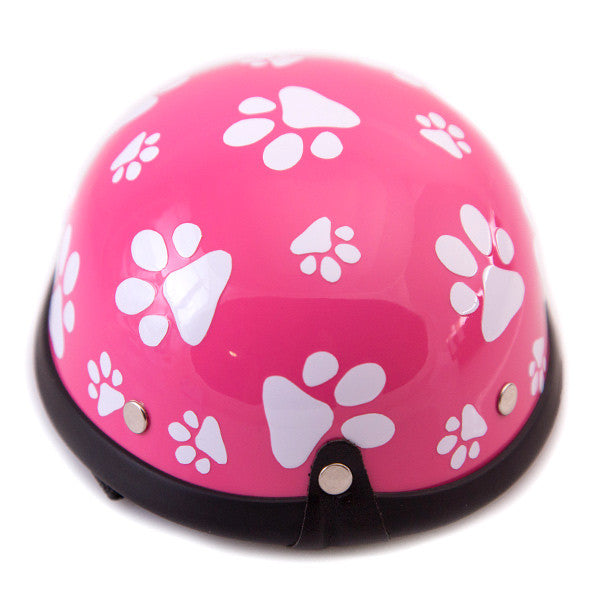 Dog Helmet - Pink Paws - Back