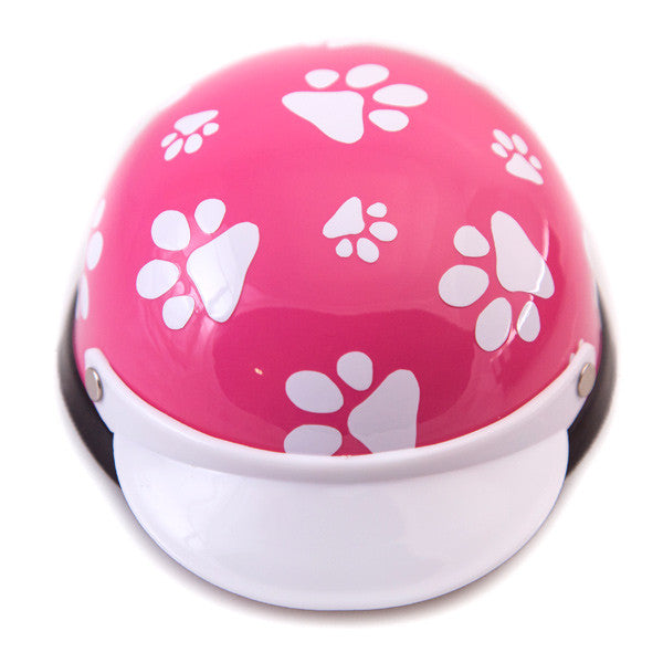 Dog Helmet - Pink Paws - Front