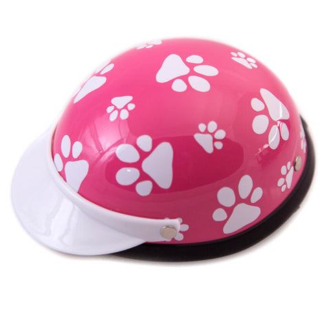 Dog Helmet - Pink Paws - Main