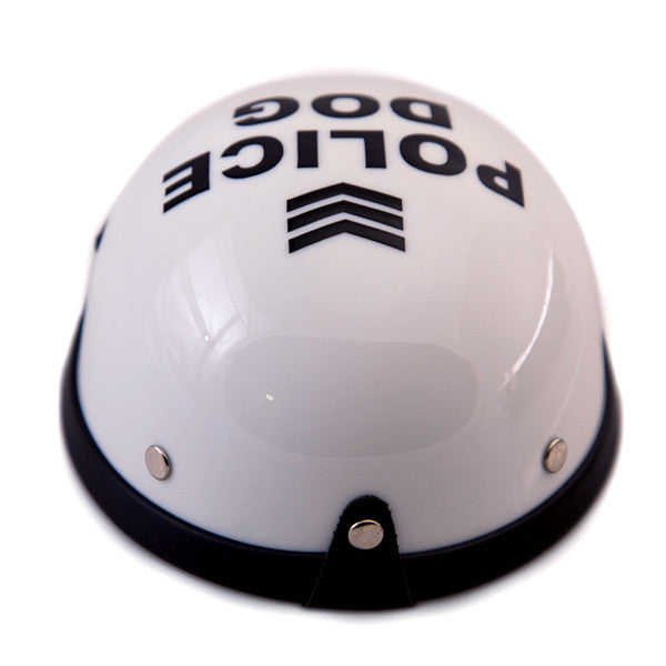 Dog Helmet - Police - Back