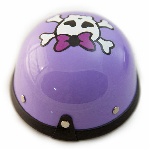 Dog Helmet - Purple Skull - Back