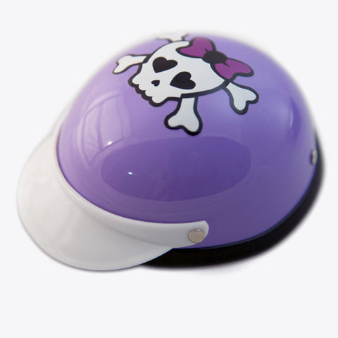 Purple Skull - Dog Helmet
