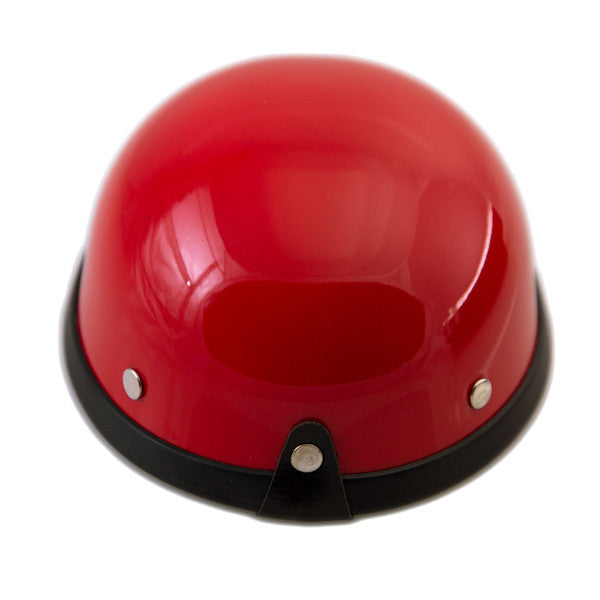 Dog Helmet - Red & White - Back