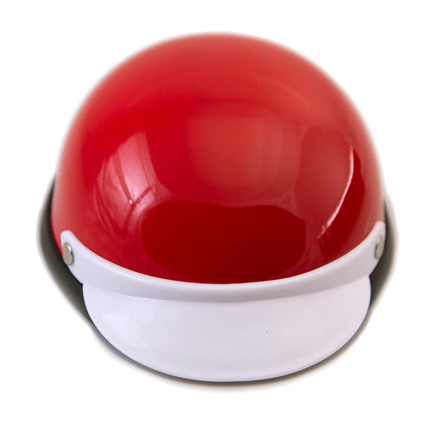 Dog Helmet - Red & White - Front