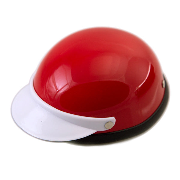 Dog Helmet - Red & White - Main