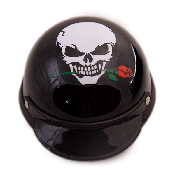 Dog Helmet - Skull Rose - Front