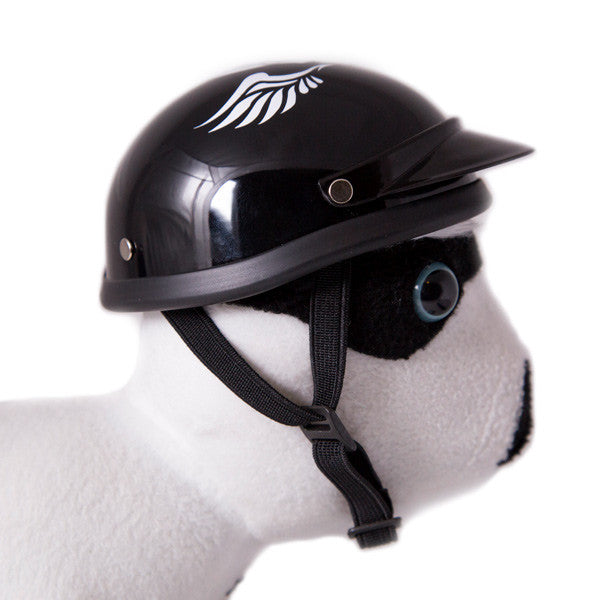 Dog Helmet - Skull Wings - Inside