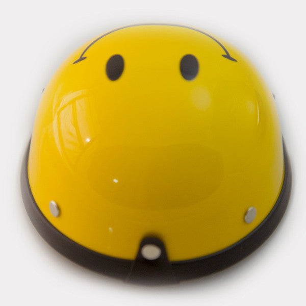 Dog Helmet - Smiley Face - Back
