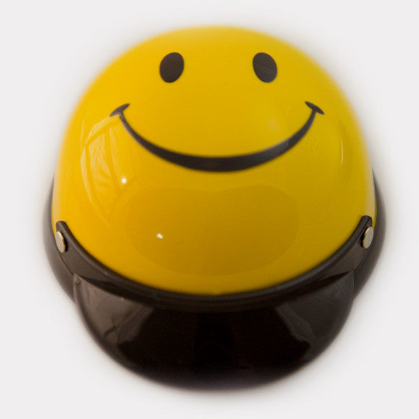 Dog Helmet - Smiley Face - Front