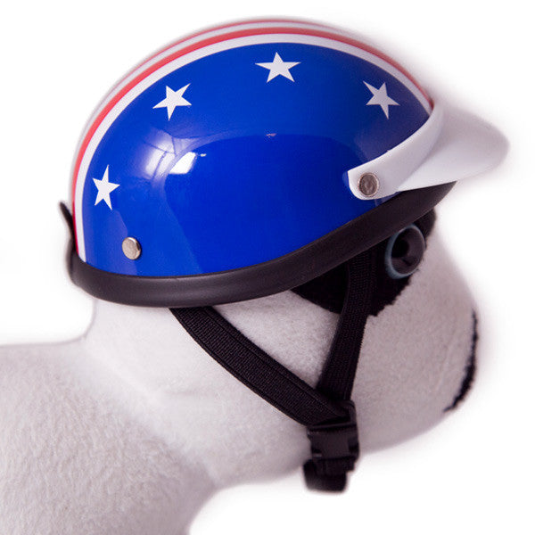Dog Helmet - Star and Stripes - Strap