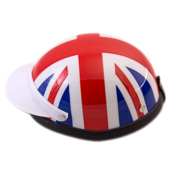 Dog Helmet - Union Jack - Side View
