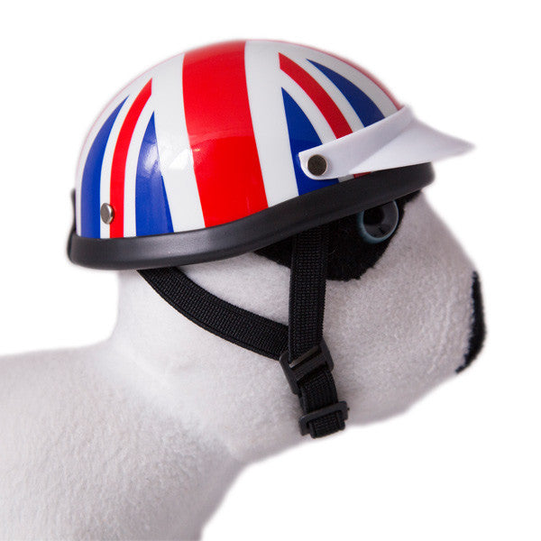 Dog Helmet - Union Jack - Strap