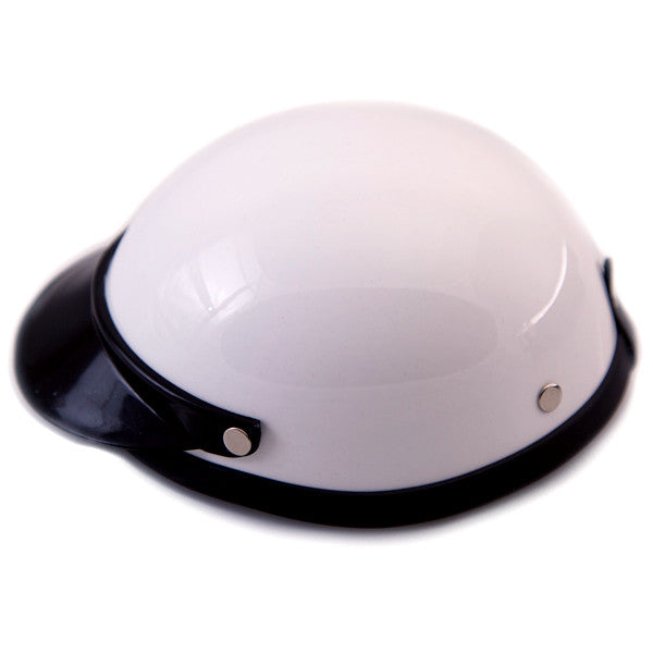 Dog Helmet - White - Side View