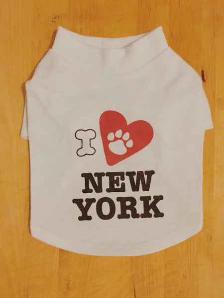 I love New York - Dog T-Shirt
