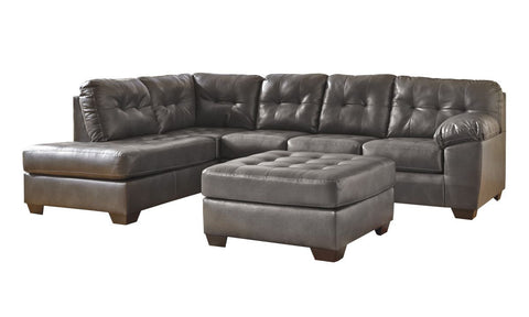 Alliston Gray Sectional with Ottoman