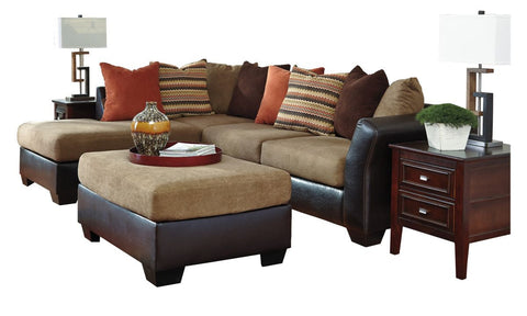 Armant Mocha Sectional with Ottoman