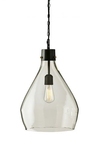 Avalbane Clear/Black Pendant Light