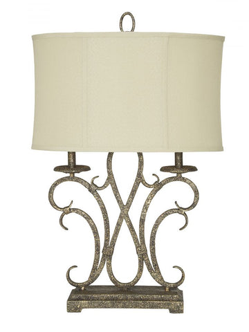 Aira Antique Gold Table Lamp