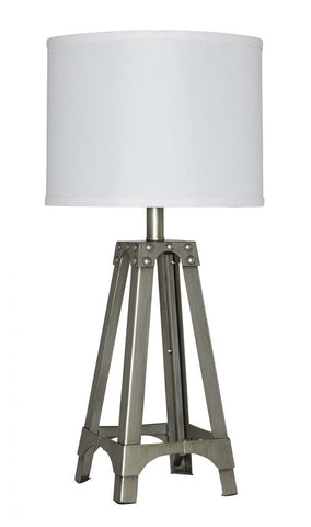 Arty Silver Table Lamp