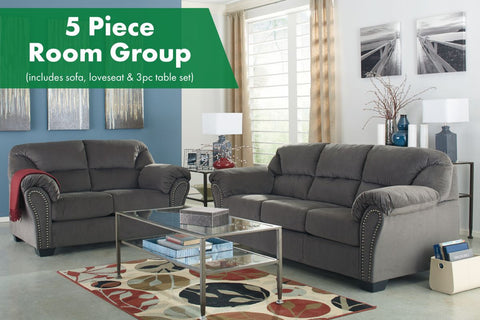 Kinlock Charcoal 5 Piece Room Group