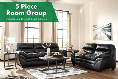 Tassler Black 5 Piece Room Group