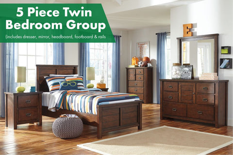 Ladiville 5 Piece Twin Bedroom