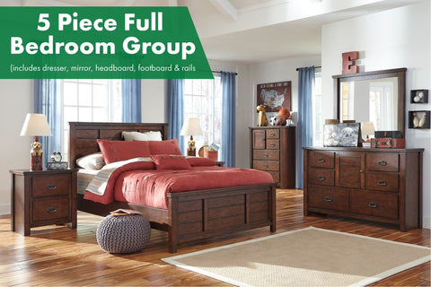 Ladiville 5 Piece Full Bedroom