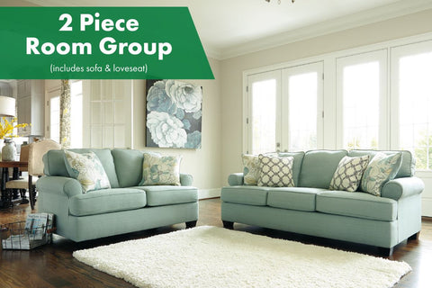 Daystar Seafoam 2 Piece Living Room Set