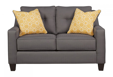 Aldie Nuvella Gray Loveseat