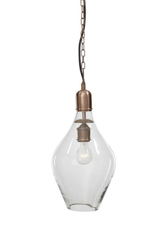 Gaenor Clear/Copper Finish Pendant Light