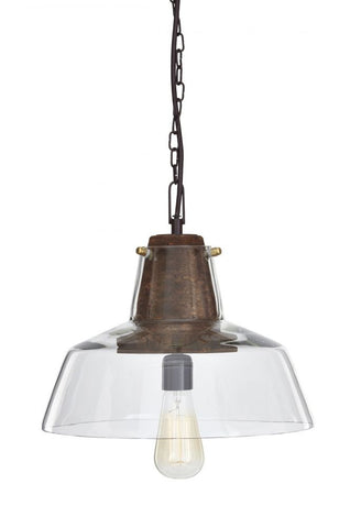 Hajar Clear/Brown Pendant Light