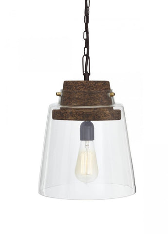 Hakeem Clear/Brown Pendant Light