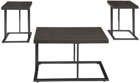 Airdon Bronze Finish 3 Piece Table Set