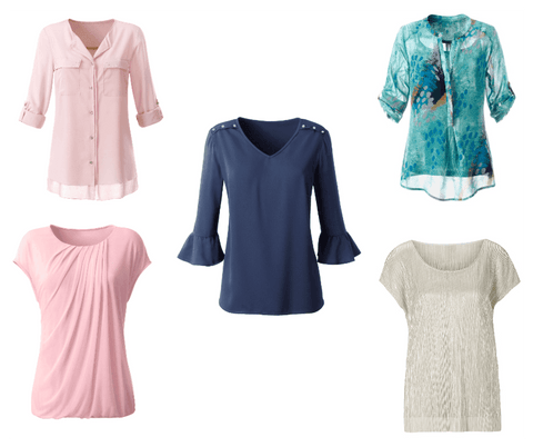 Spring tops for women, transition into Spring, five must have Spring tops, Spring outfits