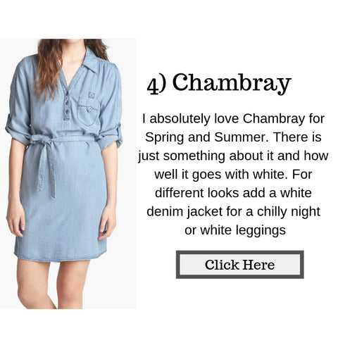Chambray dresses, boho style, denim and white
