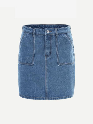 denim skirt, Spring fashion