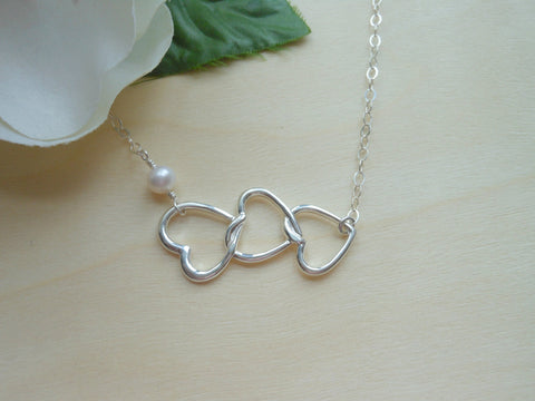 sterling silver heart necklace by Fabulous Creations, Mothers Day Gift, Necklace for Mom