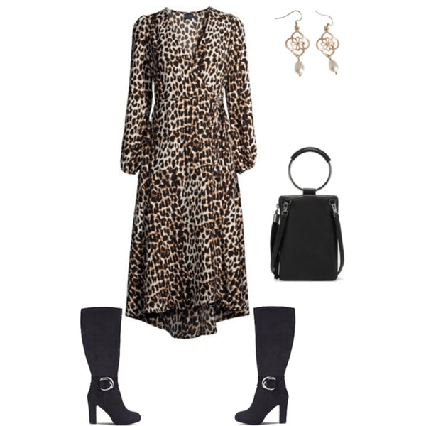 Leopard print outfit for women