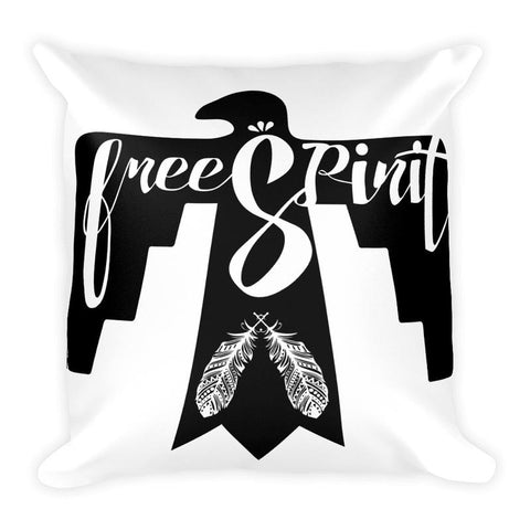 pillow-white and black pillow-home decor-free spirit pillow-gift idea