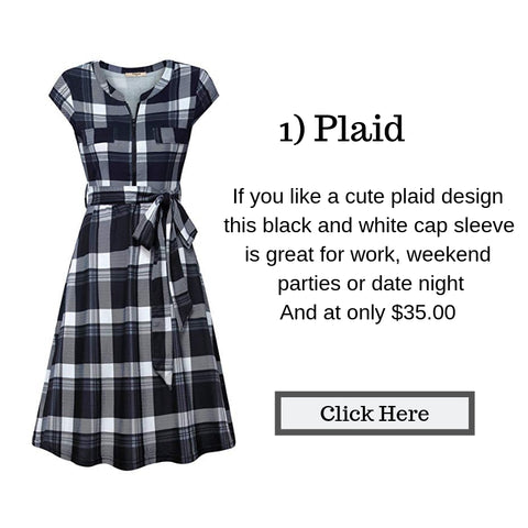 Plaid Dress, affordable fashion, Fashion on a budget, Amazon fashion,