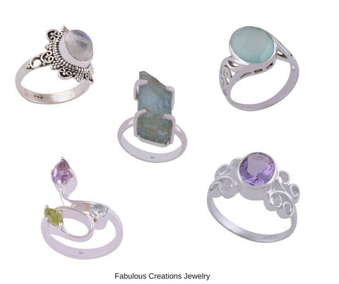 gemstone rings-one of a kind rings-artisan jewelry