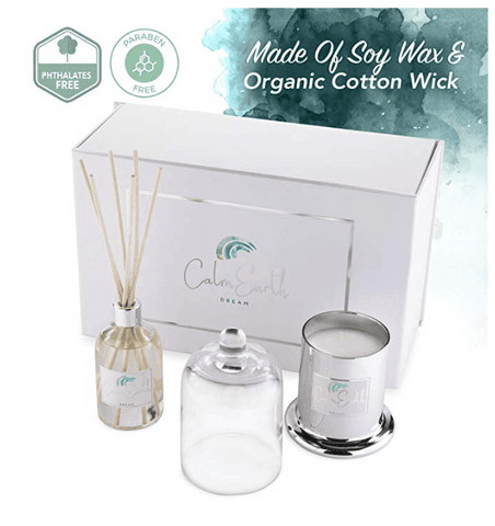 soy candles, diffuser set