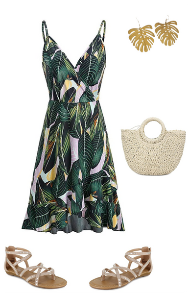 Summer Outfit for Women, Tropical Style