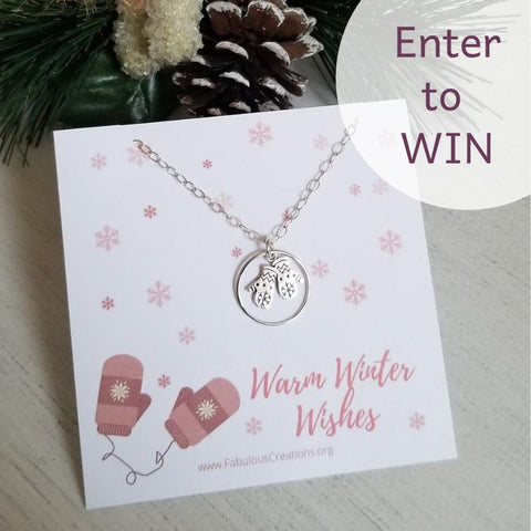 Sterling Silver necklace, Winter Giveaway